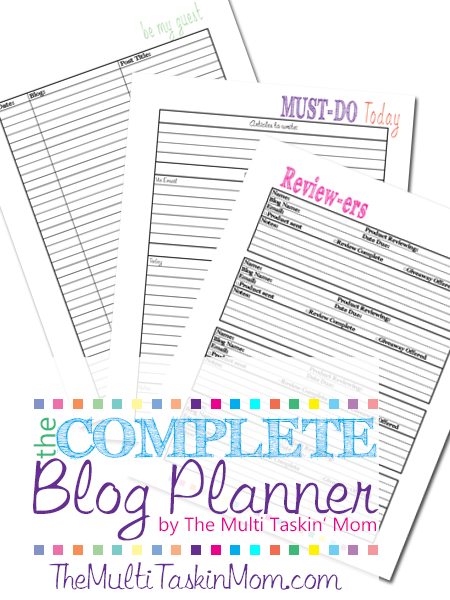 The Complete Blog Planner by The Mult Taskin' Mom