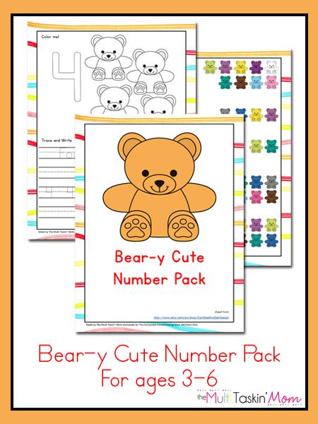 Bear-y Cute Number Pack