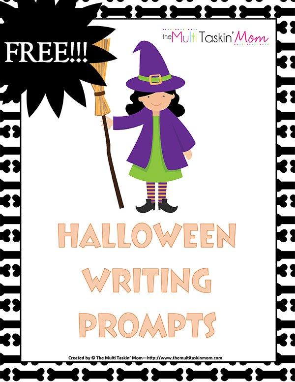 Halloween Writing Prompt Freebie - The Multi Taskin Mom