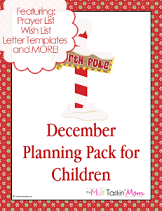 December Planning Pack for Children