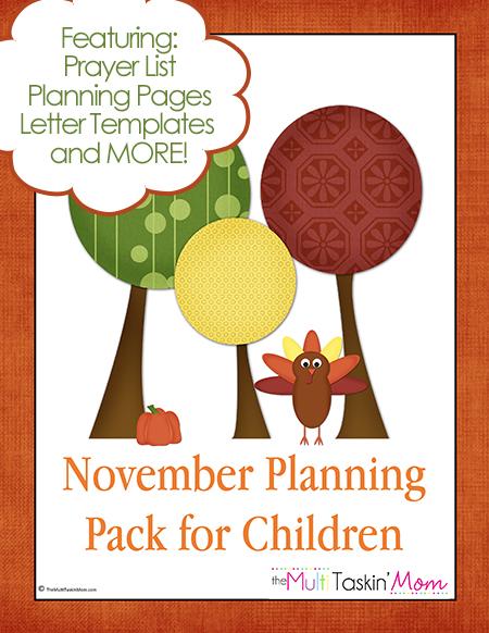 The November Planning Pack for Children