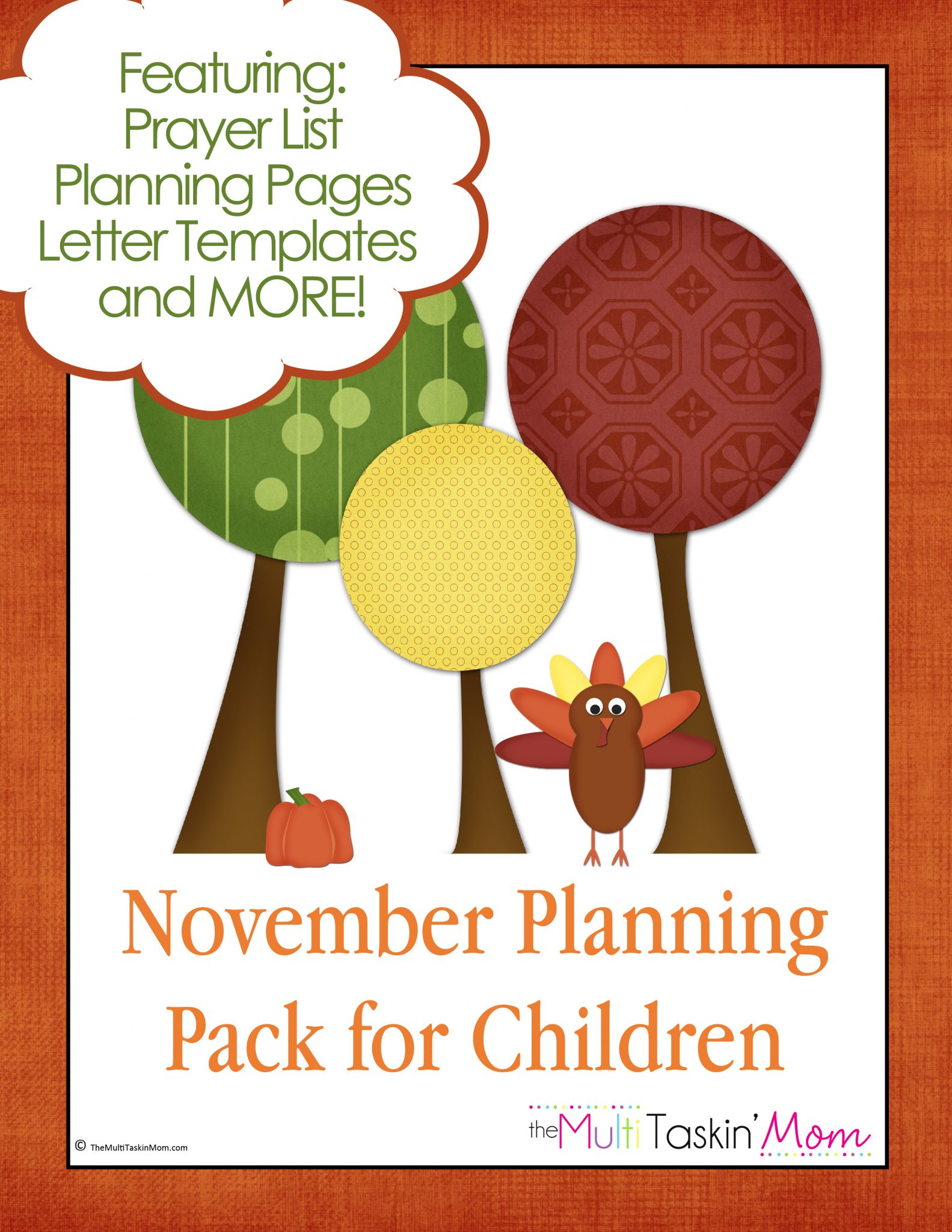 November Planning Pack for Children