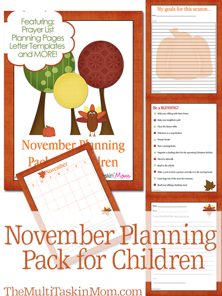 November Planning Pack