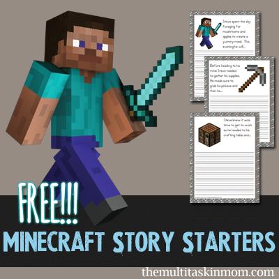 FREE Minecraft Story Starters