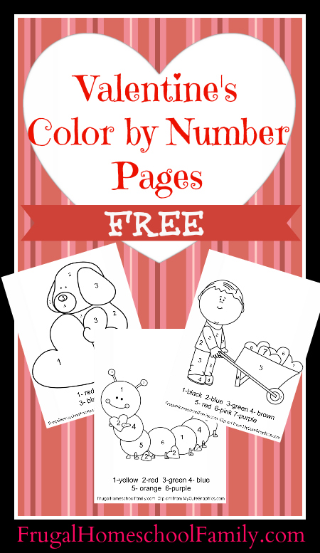 Free Valentines Day Color by Numbers