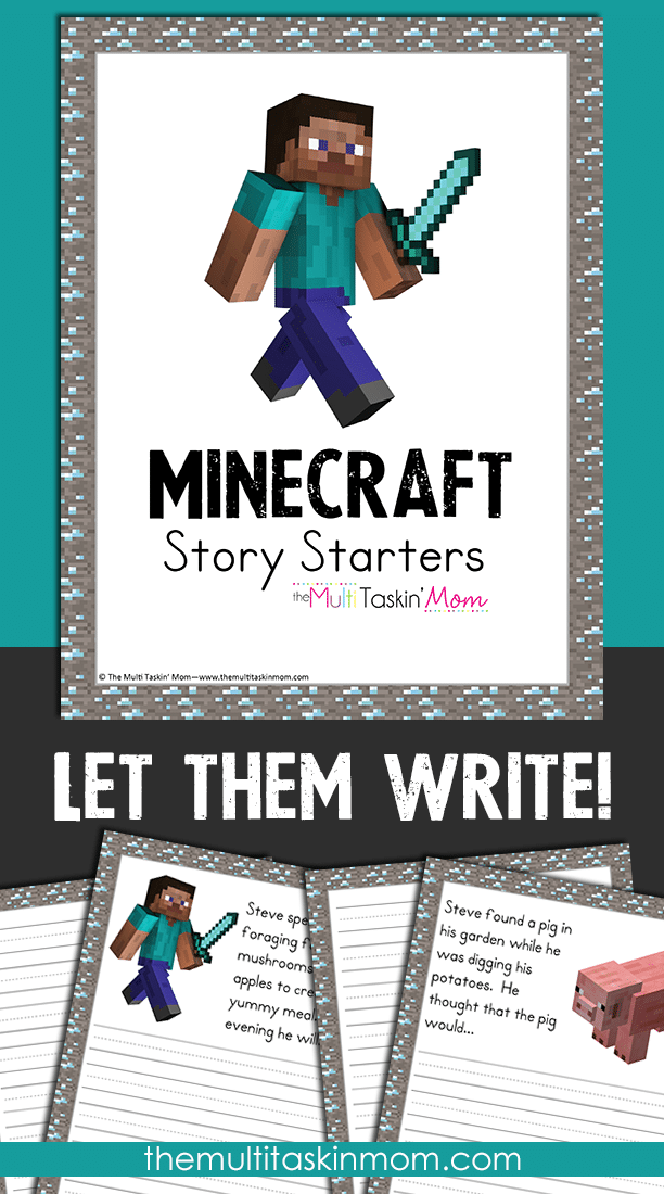 Let them write with the new Minecraft Themed Story Starters