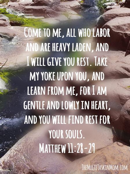 Matthew 11 28-29