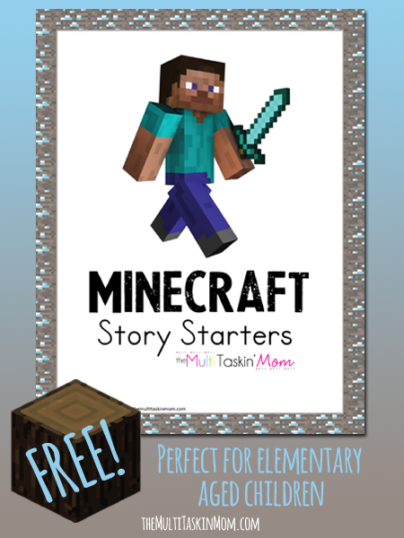 Minecraft Story Starters for elementary aged children