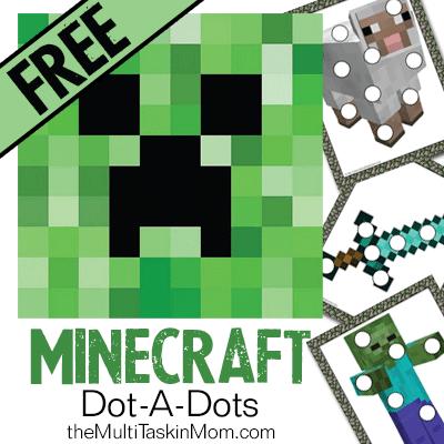 FREE Minecraft Dot-A-Dots