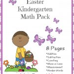FREE Easter Printables: Kindergarten Math Pack!
