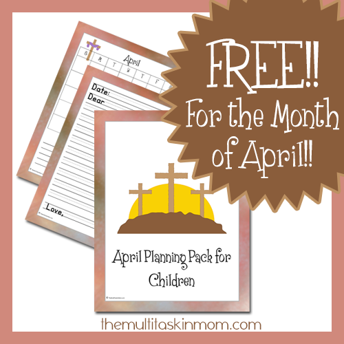FREE April Children's Planning Pack