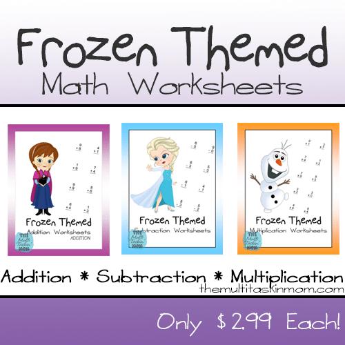 Frozen Movie Math Worksheet