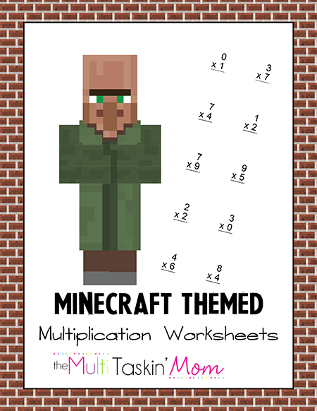 Minecraft Themed Multiplication