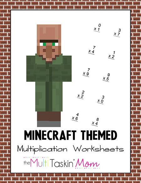 Minecraft Multiplication Worksheet Pack