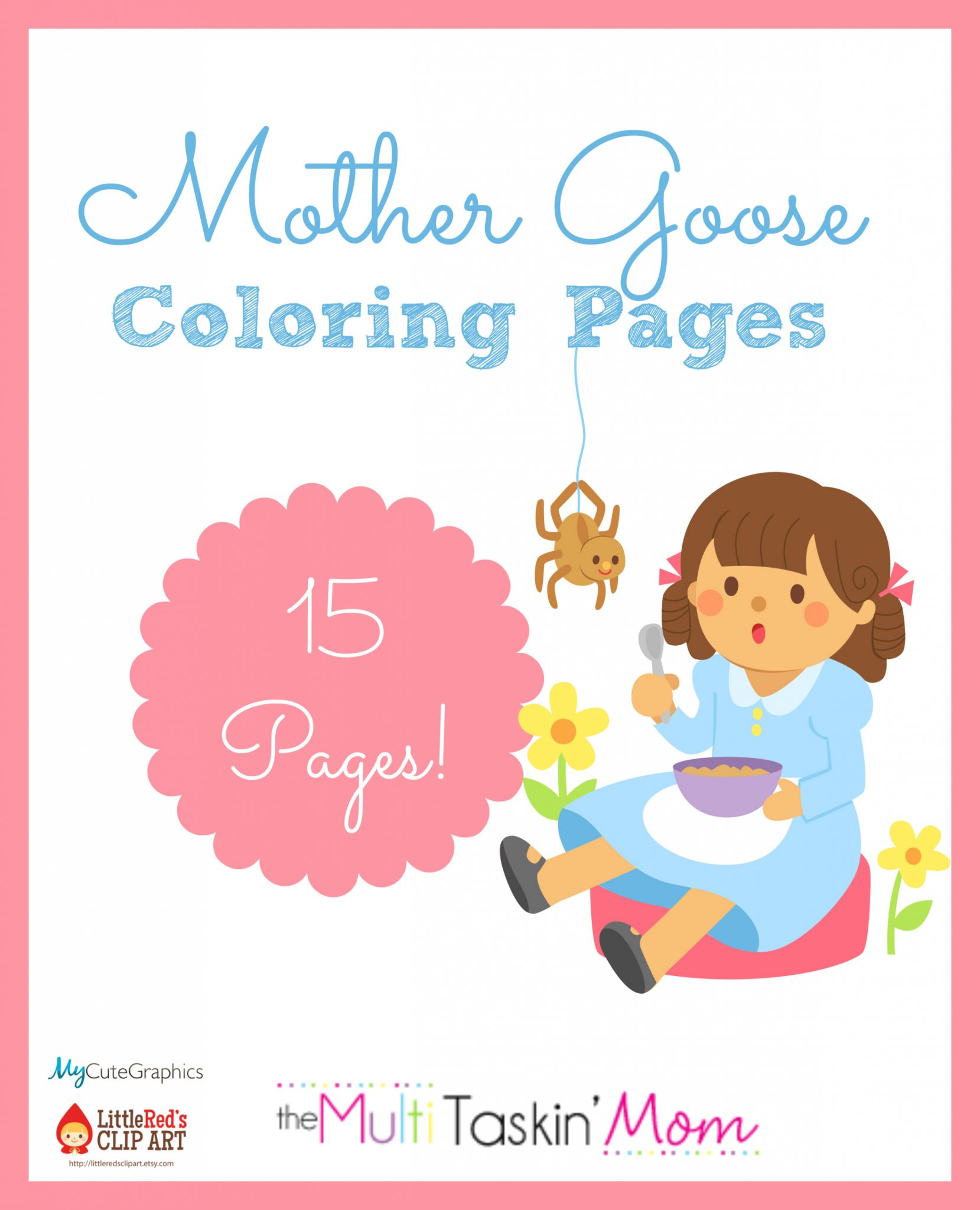 free mother goose themed coloring pages the multi taskin u0027 mom