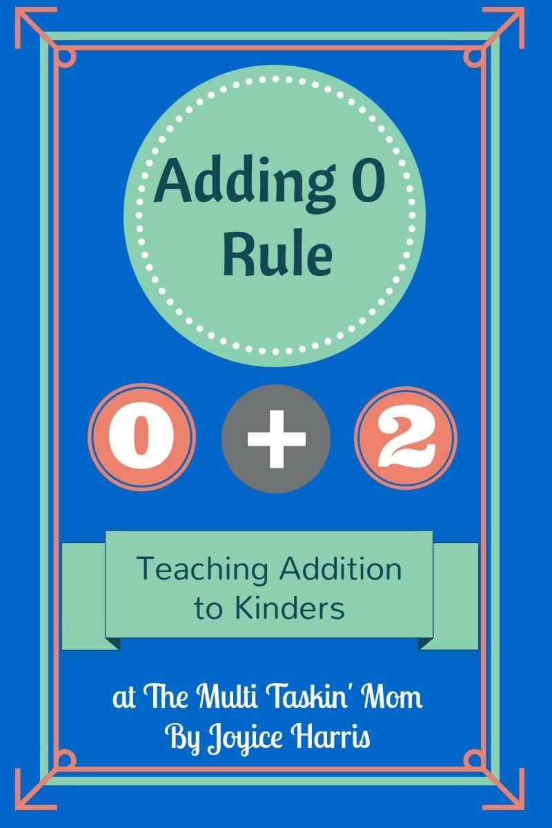The +0 Rule: Kinder Addition - The Multi Taskin\' Mom