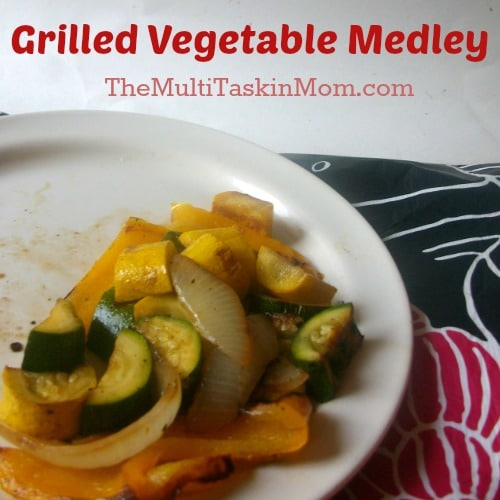 Grilled Vegetable Medley of summer squashes, onion, and bell pepper
