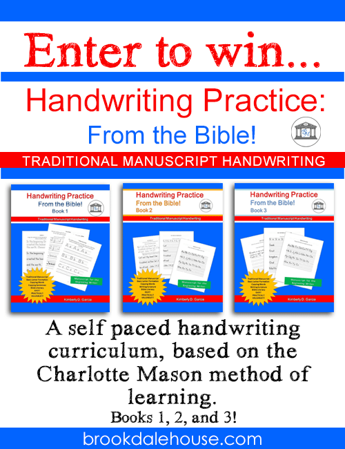 Handwriting Practice: From the Bible Giveaway