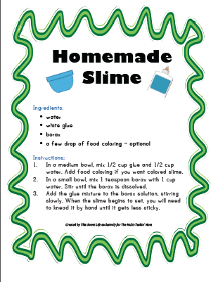 It's just an image of Refreshing Slime Recipe Printable
