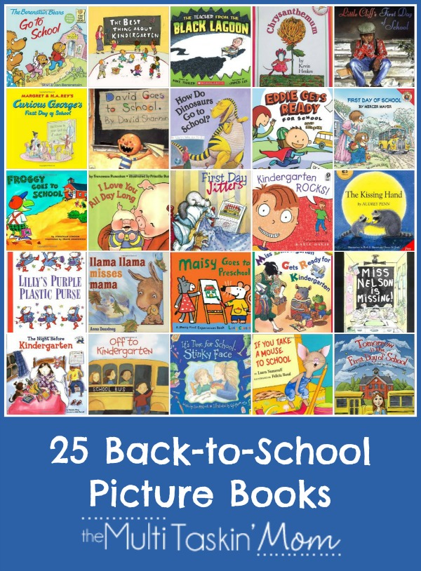 Back-to-School Picture Books with Printable Reading Log