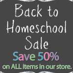 Back to Homeschool Sale