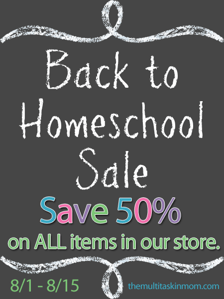 Back to Homeschool Sale