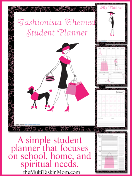 Fashionista Student Planner2