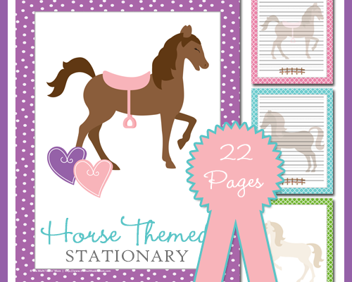 Horse Themed Stationary