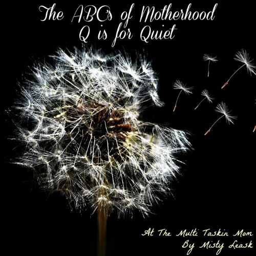 The ABC's of Motherhood ~ Q is for Quiet