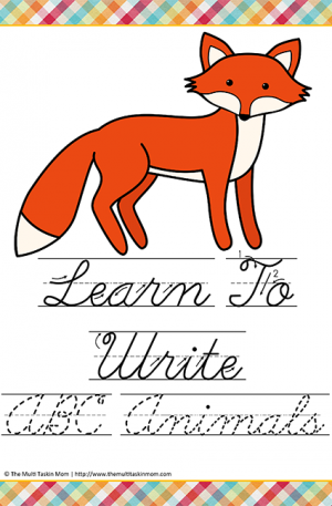 Learn to Write Animals HW C