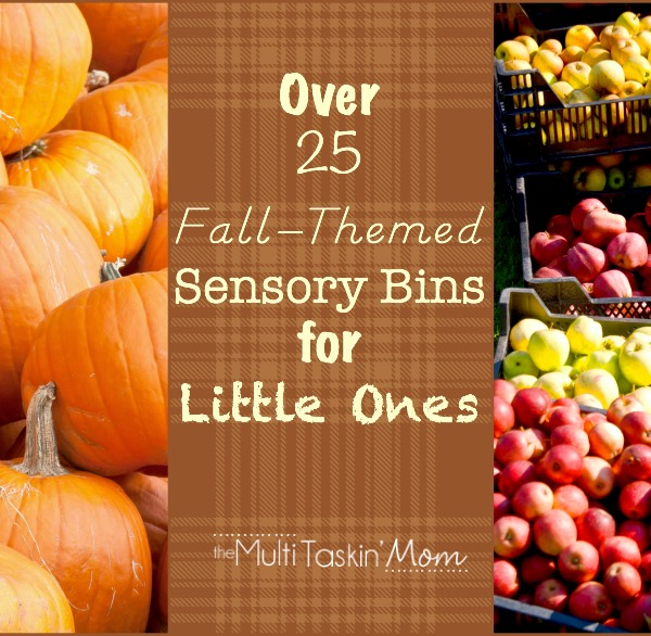 25+ Fall-Themed Sensory Bins for Little Ones #homeschool #preschool | themultitaskinmom.com