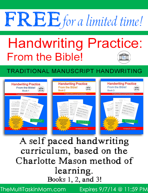 FREE Handwriting From The Bible For A Limited Time