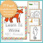 Learn To Write ABC Animals