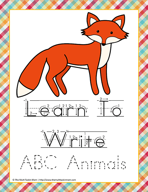 Learn to Write Animals HW M