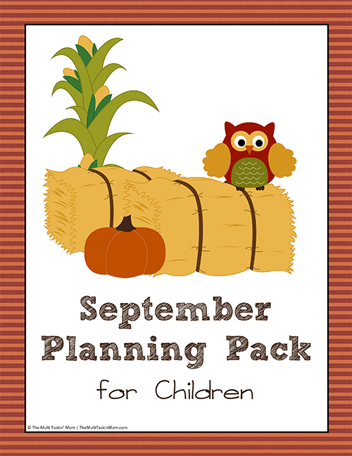 September Planning Pack for Children thumb
