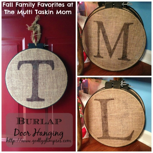 This is a simple door hanging craft for fall!