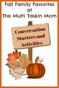 Bring your family closer together this fall with these conversation starters and activities!