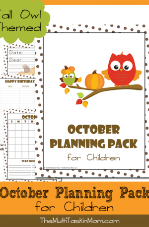 October Planning Pack for Children 2014 Owl