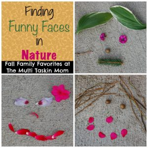 Take some nature walks to gather items to make funny faces!