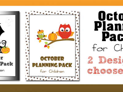 October Children's Planning Pack