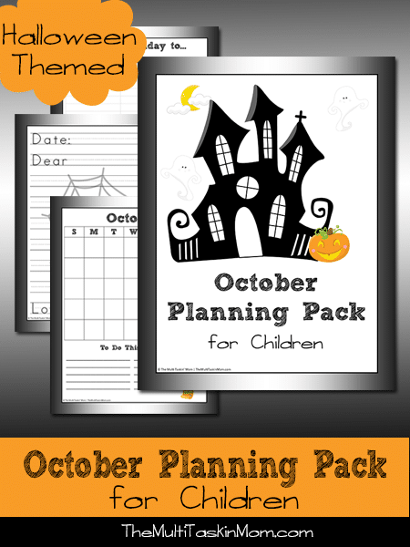 October Planning Pack for Children 2014 Halloween