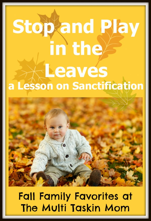 Learn lessons on sanctification through playing in the leaves this fall!