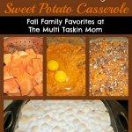 Southern Style Sweet Potato Casserole