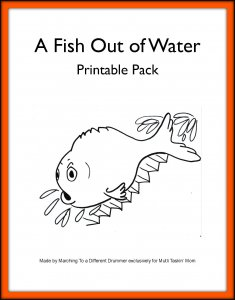 A fish out of water pre k elementary unit study the for A fish out of water book