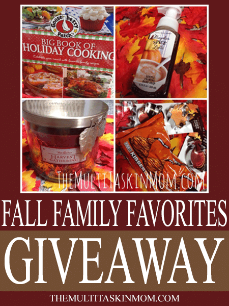 Have you entered to win the Fall Family Favorites Giveaway?  It ends 10/31/14.