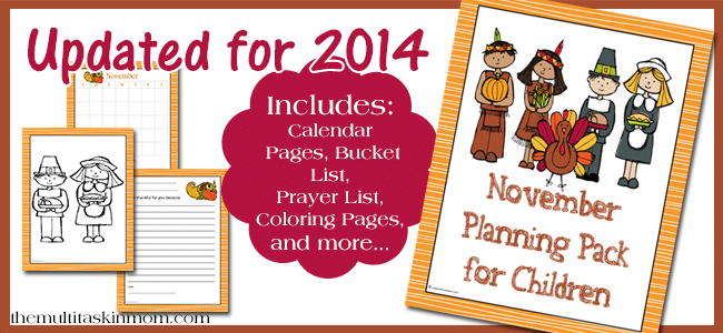November Planning Pack for Children 2014 Edition