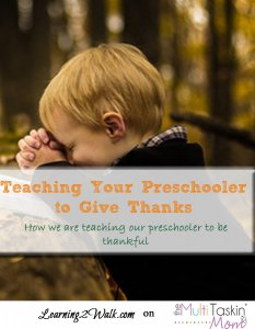 Teaching Your Preschooler to Give Thanks fall activities for preschoolers