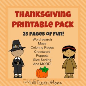 FREE 25 Page Thanksgiving Themed Printable Pack