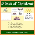 The Twelve Days of Christmas and Freebie