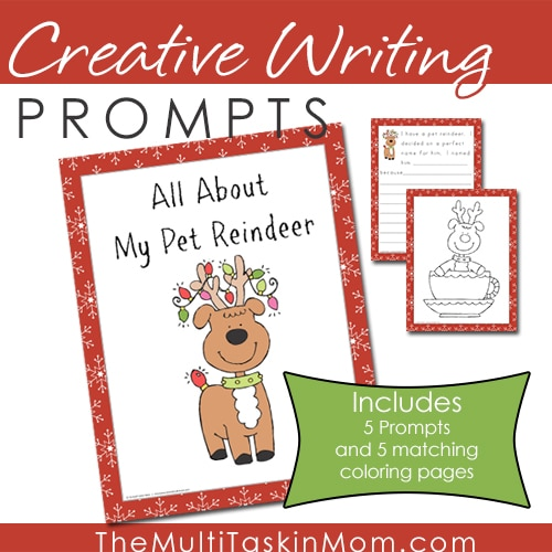 Creative Writing Prompts - All About My Pet Reindeer